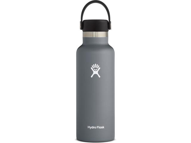 Hydro Flask Standard Mouth Bidón con Tapa Estándar Flex 532ml, gris